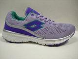 女性のためのかわいい紫色のはえのニットの歩きやすい運動靴