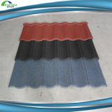 De modieuze Kleurrijke Steen Met een laag bedekte Materialen van de Tegel van het Dakwerk van de Tegel van het Dak van het Metaal