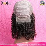 Gluelessの完全なレースの人間の毛髪のかつらの不足分の巻き毛のかつらのブラジルのバージンの毛の黒人女性のためのねじれた巻き毛のレースの前部人間の毛髪のかつら