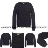 Pure Cashmere Knitwear der Dame mit metallischem genäht