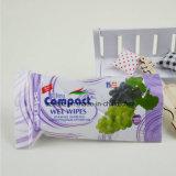 Baby-nasser Wischer-verpackenbeutel mit mehrfachverwendbarem Aufkleber