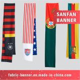 Kundenspezifische Baumwollseide Sports Schal. Ventilator-Schal