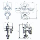 Corrente elétrica 20t com trole elétrico / elevação de velocidade dupla (WBH-20008D)