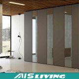 Armário modular do Wardrobe do armário da madeira compensada do MDF com portas deslizantes (AIS-W187)