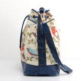 Vogel-Drucken-Dame-Form-Segeltuch eingebrannte Schulter-Handtasche (FF-6)