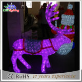 Luz ao ar livre grande acrílica interna da decoração da rena da cintilação do Natal 3D