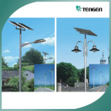 Luz de calle solar con poste, luz de calle solar del LED