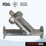 Tipo sanitário filtro rosqueado do aço inoxidável Y (JN-ST2001)