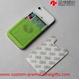 Portatarjetas adhesivo universal de la etiqueta engomada del teléfono celular del silicón de la talla