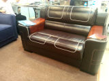 Leather moderno Sofa Furniture Leather Sofa con Wooden