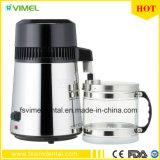 304 distillateur pur de l'eau de l'acier inoxydable 4L avec le choc en verre