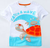 Nettes Mädchen-T-Shirt in der Kind-Kleidung mit Drucken Sgt-067