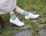 Nieuwe Katoenen van de Bemanning van het Meisje van de Stijl Zoete Sokken met het Ontwerp van de Manier van Veery van het Manchet van het Kant Shinning
