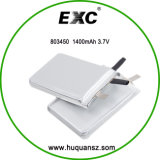 803450 3.7V 1400mAh Customize Lithium Battery para MP4