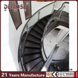 豪華な木の踏面の螺旋階段(DMS-1057)