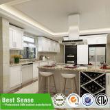白い実質の木製のシェーカーの台所食料貯蔵室の収納キャビネット