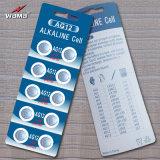 Batterie alkaline chinoise de cellules de bouton de la marque AG12 de Wama pour le téléphone 1.5V