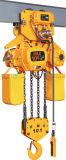 Tipo manual alzamiento de cadena, alzamiento de cadena eléctrico de la carretilla para 10t