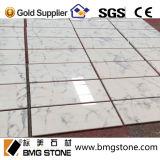Tuiles de marbre blanches en gros de matériau de construction