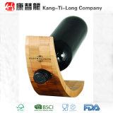 Support simple en bambou promotionnel de vin de bouteille