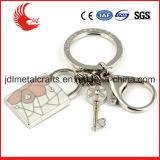 Tipo metallo su ordinazione del metallo della lega del commercio all'ingrosso che gira Keychain