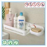 Cremagliera di piatto del sapone della stanza da bagno con la mensola dello sciampo
