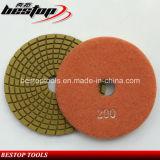 Spiraalvormig Geel Oppoetsend Stootkussen voor de Steen van het Graniet
