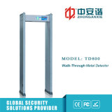 Controllo Anti- di sicurezza di accesso del banco del metal detector del blocco per grafici di portello di zone dell'allarme di scossa 4
