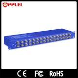 Protetor de impulso video do CCTV da montagem de cremalheira de 16 canaletas