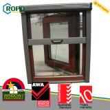 Окно энергосберегающего снаружи качания UPVC пластичного стеклянное