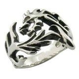 Drago metallo Artigianato anelli d'acciaio