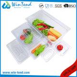 La vendita calda BPA libera il cassetto di plastica trasparente di Gastronorm di formato della cucina 1/6 del ristorante del certificato