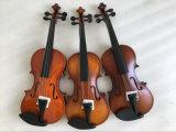 Violon d'élève d'instrument de musique en bois solide dans le cas de violon