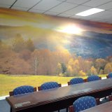 オフィスの装飾のためにビニールの壁紙のカスタム写真のデジタル印刷の美しいビニールの壁の壁画を広告すること