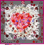 L'écharpe en soie magnifique de la fleur Pattern100% conçoivent l'impression en fonction du client de Digitals