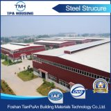 Taller prefabricado del almacén del bajo costo en diseño de la estructura de acero