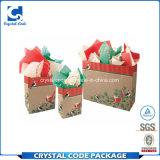豪華で装飾的なマットのラミネーションのクリスマスの買物をする紙袋