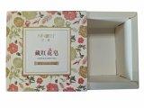 El jabón de papel de lujo de la funda recicla el rectángulo de empaquetado del cartón de papel para el conjunto