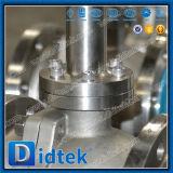 Robinet à tournant sphérique mou de tourillon de cachetage de Didtek CF3m avec la prolonge de cheminée
