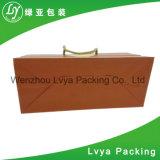 Le prix inférieur a réutilisé le sac de papier estampé par coutume de cadeau, sac à provisions de papier