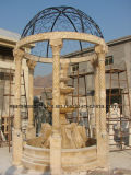 Ägypten-Sahnebeige  SKULPTUR-MarmorGazebo Qu-Yang Stein(SY-G015)