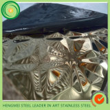 SGS 304の316 201押す浮彫りになるステンレス鋼は壁の装飾Pannleのためのスキッドの版を広げる