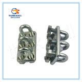 Tipo especial galvanizado clip de la INMERSIÓN caliente de cuerda de alambre del triple/abrazadera