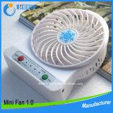 Ventilador a pilhas recarregável do USB do melhor ventilador colorido da mesa da venda 2016 mini mini