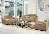 El sofá de la sala de estar con el sofá moderno del cuero genuino fijó (441)