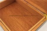 Alto Humidor su ordinazione semplice del sigaro del cedro della stampa di lucentezza