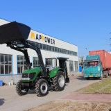 granja Tarctor de 100HP 4WD con el cargador de las partes frontales