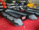 4.3m Barco de pesca de barco inflável, barco de resgate, barco desportivo, Barco barato com motor fora de borda, Escolha piso diferente