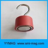 Gancho de suspensão vermelho do ímã C de Rubber&Neodymium