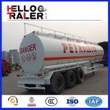 De tri Aanhangwagen van de Vrachtwagen van de Brandstof van het Vervoer van de Olietanker van de As 40000L